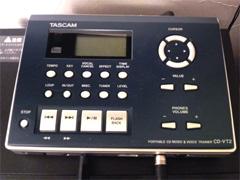 TASCAMのCD-VT2