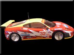 PLAFITのシャーシにフェラーリF430・GT2[コルサモータースポーツ]のボディー